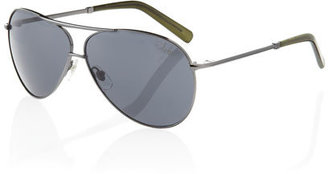 Cole Haan Full-Rim Oval Sunglasses, Gunmetal