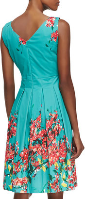 Lafayette 148 New York Zoe Floral-Print Pleated Dress