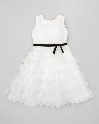 Joan Calabrese Organza Petal Tea-Length Dress