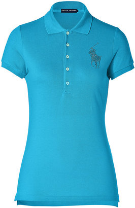 Polo Ralph Lauren Cotton Polo Shirt in Oasis Blue