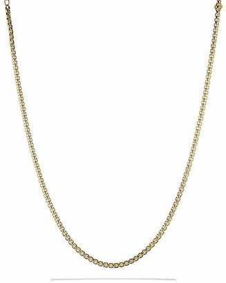 David Yurman Medium Box Chain in Gold