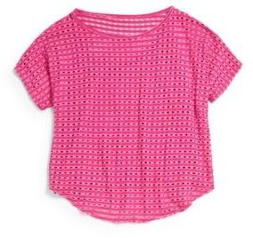 Tractr Girl's Eyelet Top