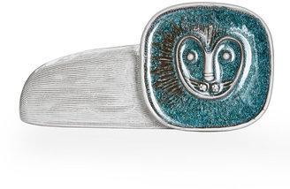 Jonathan Adler Glass Menagerie Lion Ornament - Turquoise