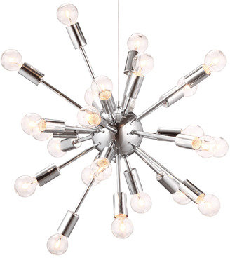 Pulsar ZUO Accents 24-Light Chrome Ceiling Lamp