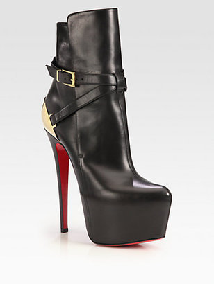 Christian Louboutin Equestria Leather Platform Ankle Boots