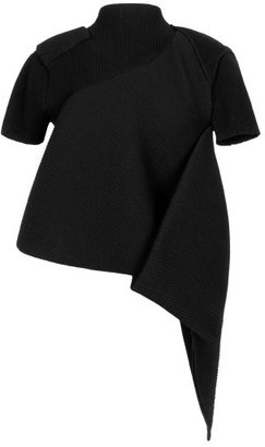 J.W.Anderson Preorder Smocked Folded Top In Black