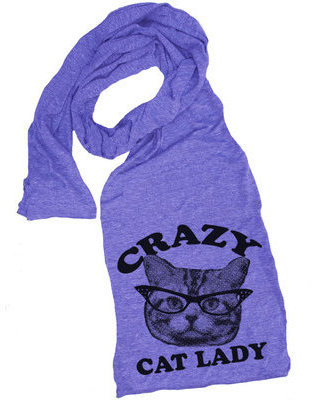 Skip N' Whistle Cat Lady Scarf Orchid