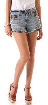 Free People Baja Rugged Denim Shorts