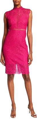 Bardot Lace Panel Sleeveless Dress