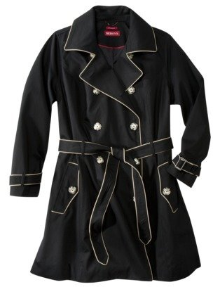 Merona Womens Plus-Size Long-Sleeve Classic Trench Coat - Assorted Colors