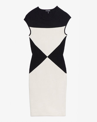 Intermix Exclusive For Colorblock Knit Dress: B&w