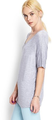 Forever 21 Easy Heathered Knit Tee