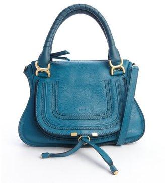 Chloé laguna blue leather 'Marcie' convertible tote