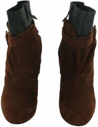 Hermes Brick - Black Boots, Size 38