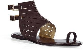 Diane von Furstenberg Chocolate Suede Flats