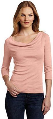 Red Dot Three Dots Red Women's Cowl Neck Top