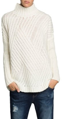 MANGO Outlet Zigzag Mohair Wool-Blend Sweater