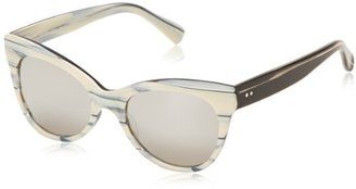 Cat Eye KAMALIKULTURE - Sunglasses Women's Square KKSS1497MMS Sunglasses,Marbled Milk,140 mm