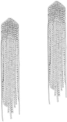 Fallon Feathered Crystal-embellished Drop Earrings
