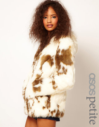 Asos Faux Fur Coat With Zip Front