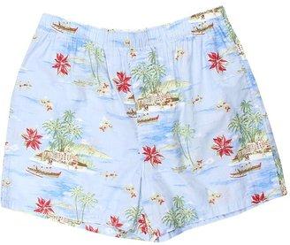 Tommy Bahama Holiday Escape Boxer Shorts (Light Blue Pt) - Apparel