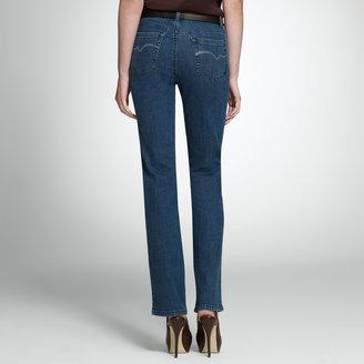 "Jones New York The Straight Leg Jean in Stardust Wash with 32.5"" Inseam"