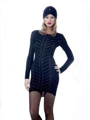 Torn By Ronny Kobo Danielle Long Sleeve Knit Dress