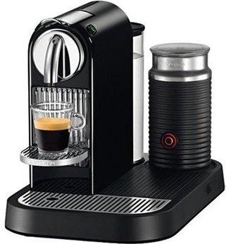 Nespresso Limousine Black Automatic Espresso Machine Plus Milk Frother