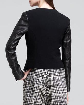 Rag and Bone Rag & Bone Pascal Leather-Sleeve Blazer