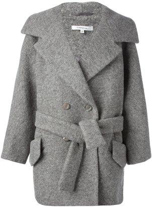 Carven boxy belted jacket