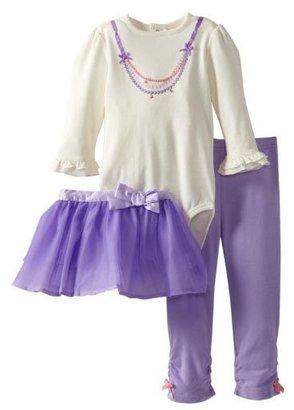 Hartstrings 3-pc L/S Bodysuit Set - Marshmallow-24 Months
