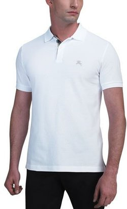 Burberry Modern-Fit Logo Polo, White $175 thestylecure.com
