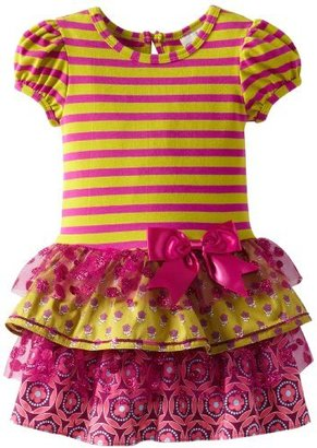 Rare Editions Girls 2-6X Toddler Stripe Tiered Dress