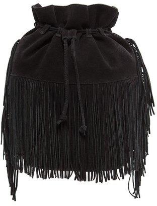 MANGO Fringed Bucket Bag