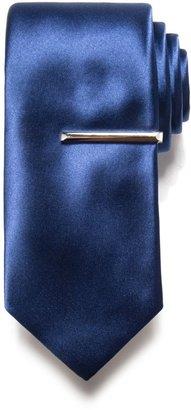 Apt. 9 Men's Solid Satin Tie with Tie Bar