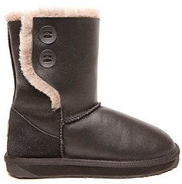 "Emu AustraliaTM ""Glenbark"" Mid-Calf Boot with Side Buttons - Black"