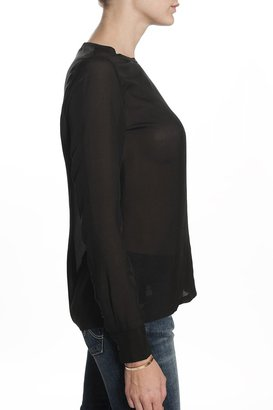 Equipment Liam Blouse Black