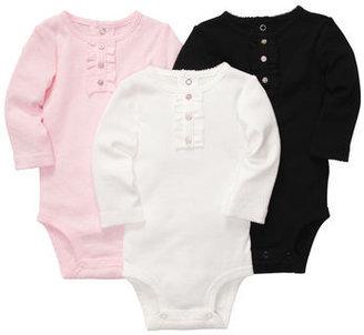 Carter's 3-Pack Long-Sleeve Bodysuits