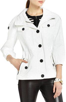 BCBGMAXAZRIA Zoey Three-Quarter Sleeve Trench Coat