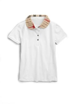 Burberry Girl's Ruffled Collar Polo