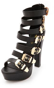Charlotte Russe Strappy Belted Platform Heel