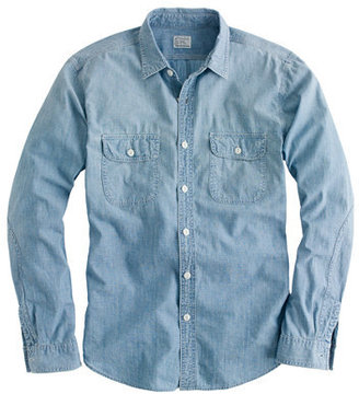 J.Crew Washed selvedge chambray utility shirt