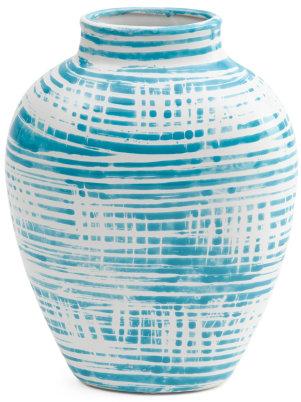 Striped Oval Vase