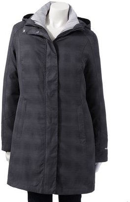 Free Country plaid hooded 3-in-1 systems jacket