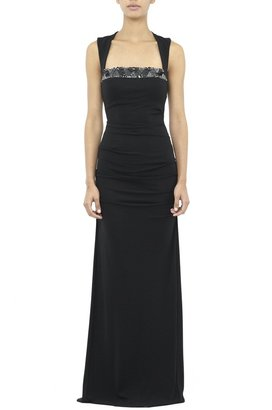 Nicole Miller Felicity Geometric Beaded Gown