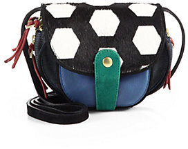 Jerome Dreyfuss Momo Mixed-Media Shoulder Bag