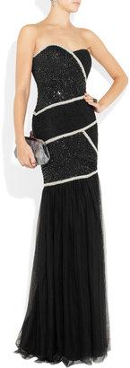 Rachel Gilbert Tessina embellished tulle gown