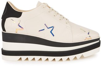 Stella McCartney Sneak-Elyse 80 Cream Faux Leather Sneakers