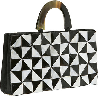 Global Elements Shell/Horn Triangle Pattern Bag