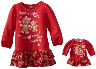 Dollie & Me Girls Gingerbread Printed Nightgown
